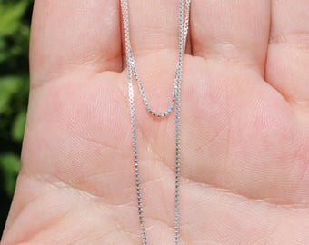 1 with 45.8 CM clasp 925 Silver chain. AAV