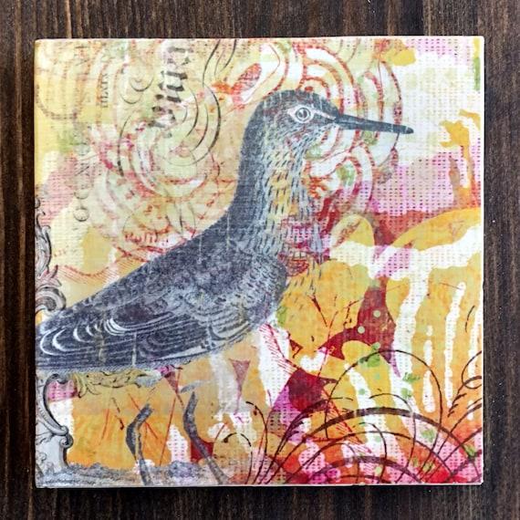 Bird Stone Coasters Set, ...