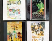 Wizard of Oz Movie Poster Stone Coasters, Set of 4, Handmade Gifts, Dorothy, Lion, Tin Man, Scarecrow