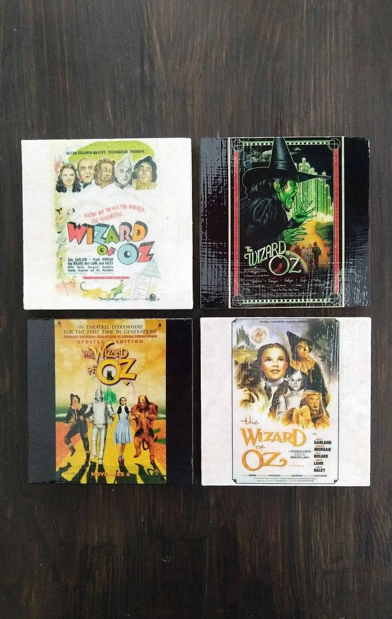 Wizard of Oz Movie Poster Stone Coasters Set of 4 Handmade image 1