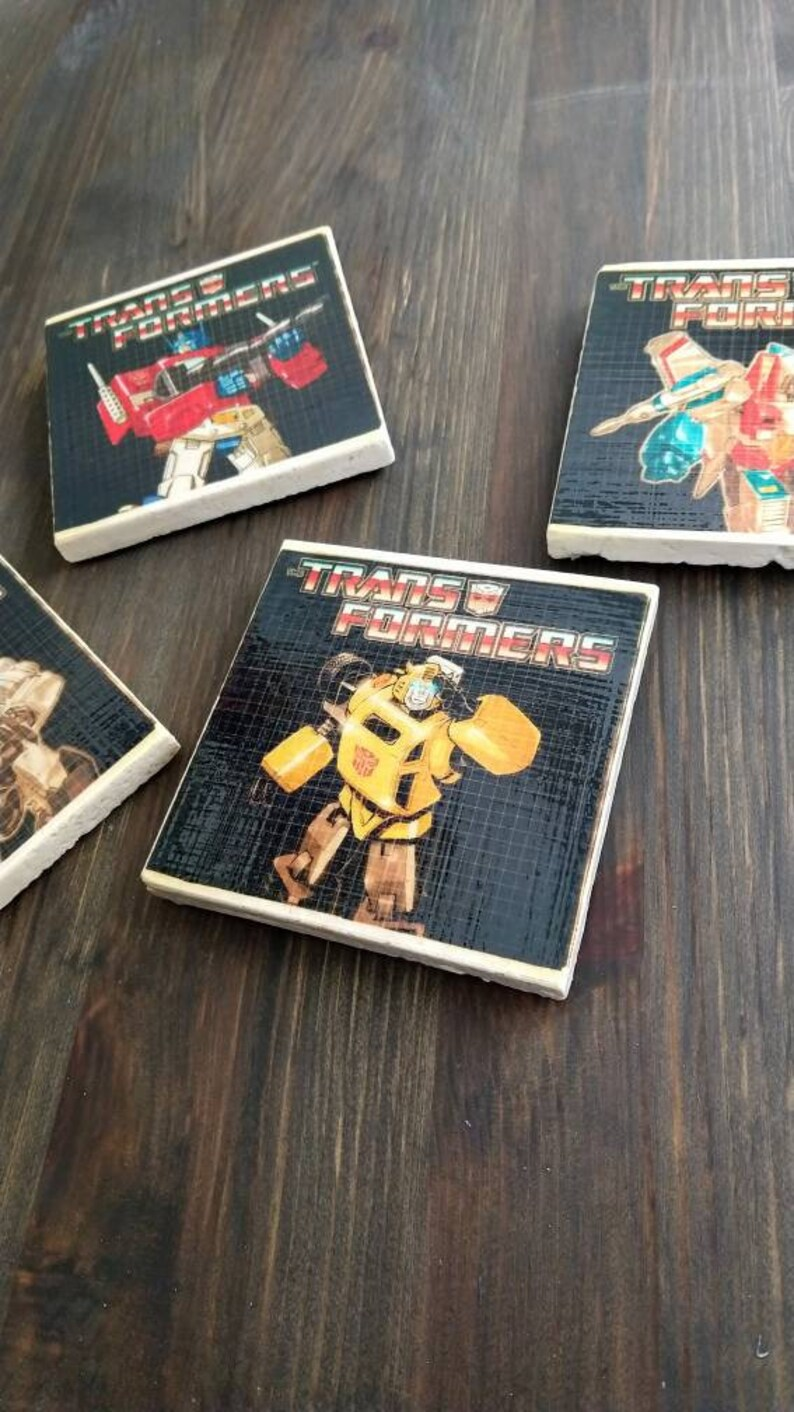 Transformers G1 Stone Coasters Handmade Travertine Classic image 0