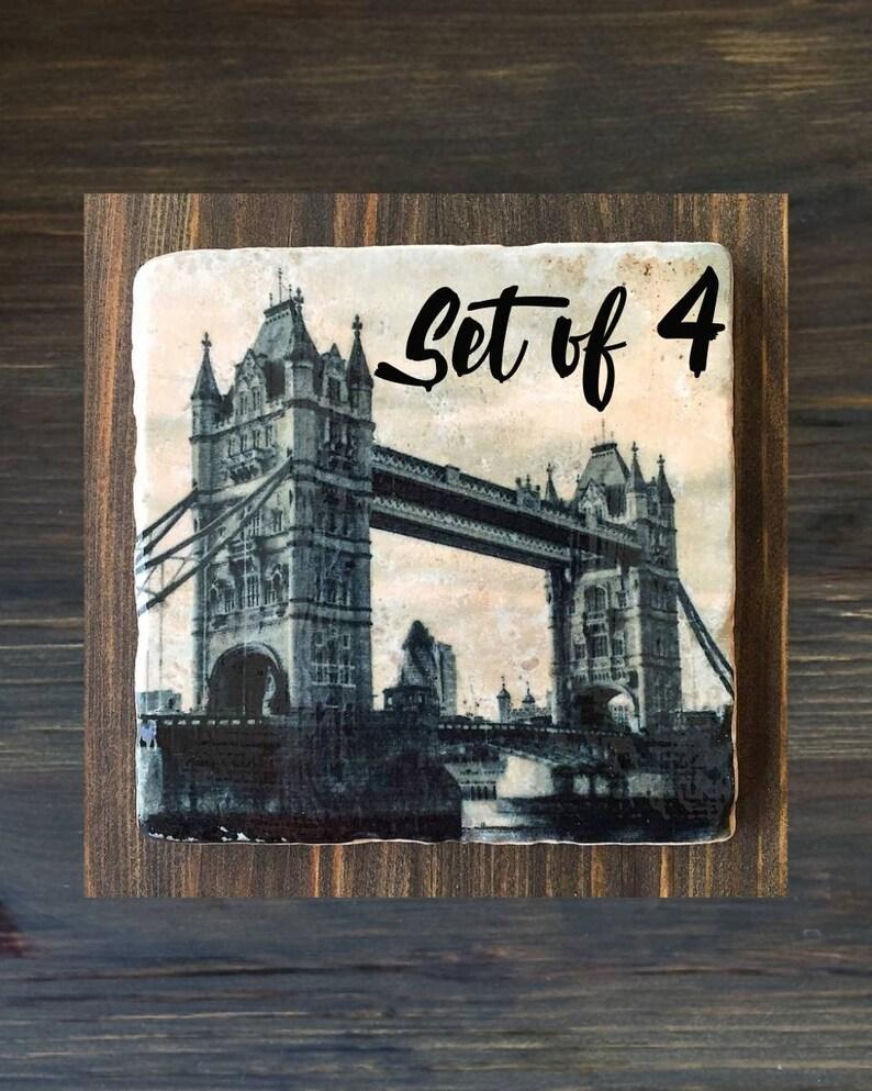 London Inspired Stone Coasters Set of 4 Buckingham Palace image 0
