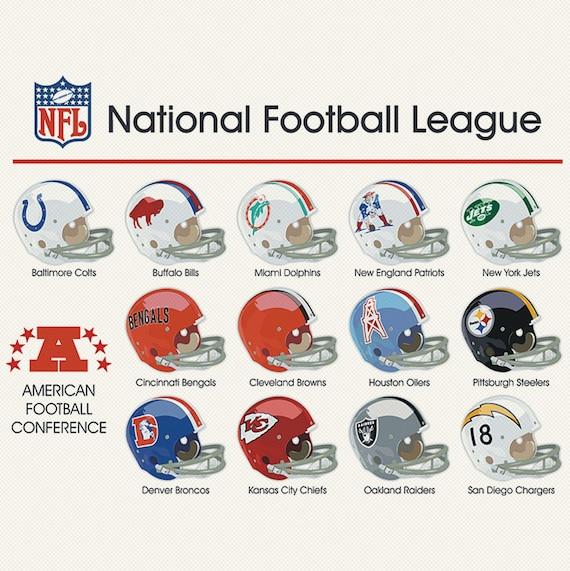 Classic NFL Helmet logo C...