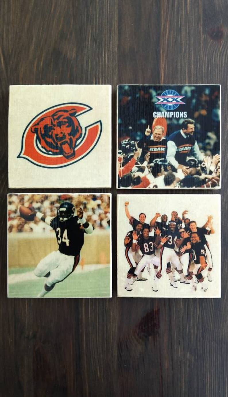 Chicago Bears 1985 Super Bowl XX Champions Photo Coasters image 0