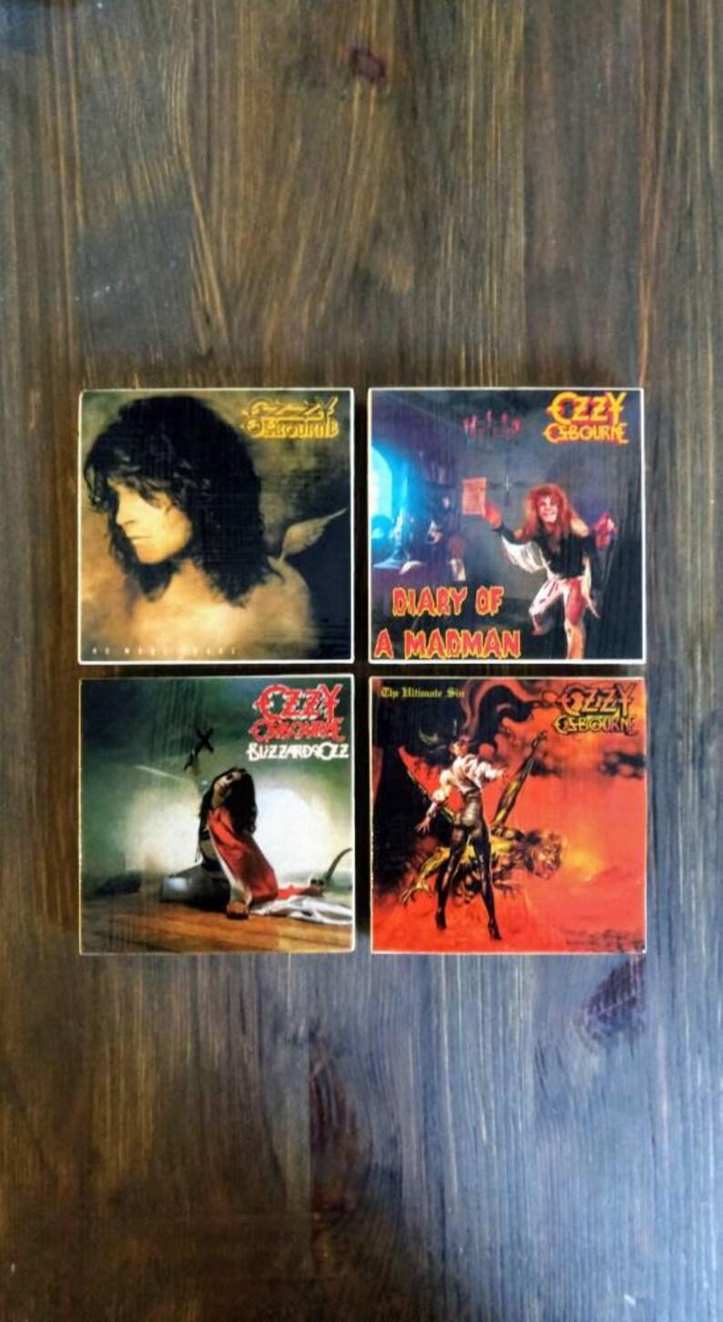 Ozzy Osbourne Album Cover Stone Coasters Handmade Set of 4 image 0