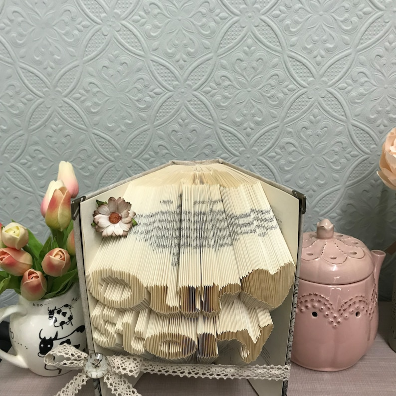 Our love story book art wedding gift