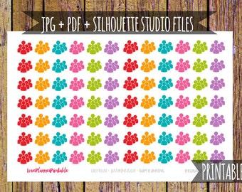Meeting Printable Planner Stickers Meeting Planner Stickers Cut File Icon Stickers Functional Stickers Meeting Stickers Work Planner A109