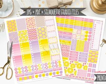 Lemonade Digital Printable Planner Stickers Weekly Stickers Digital Planner Stickers Lemonade Planner Stickers Weekly Planner Cut File