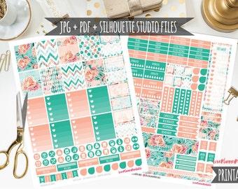 Floral Digital Printable Planner Stickers Weekly Stickers Digital Planner Stickers Floral Planner Stickers Floral Planner Weekly Planner
