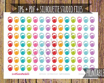 Spa Printable Planner Stickers Spa Stickers Spa Appointment Stickers Cut File Icon Stickers Functional Sticker Spa Party Planner Sticker A35