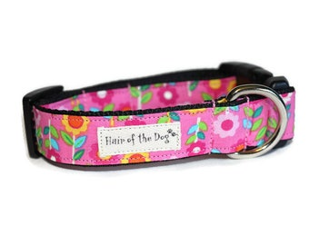 4f38ca8ec75 Fun Flowers on Pink DoG Collar