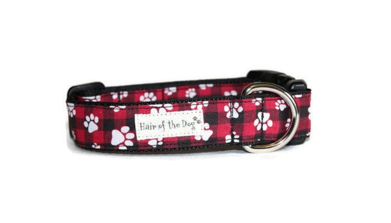 634aa15e Paw Print Buffalo Plaid DoG Collar,dog collar,buffalo plaid,cute dog  collar,fun dog collar,boy dog collar,girl dog collar,soft dog collar