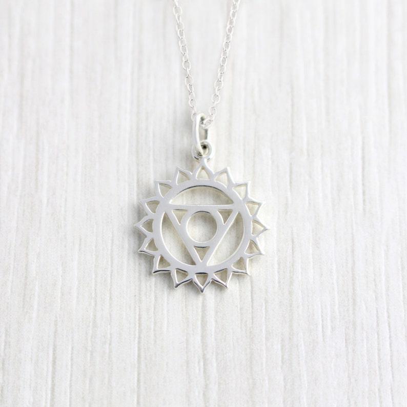 Sterling Silver Throat Chakra Necklace, Chakra Pendant, Spiritual  Jewellery, Yoga Jewellery, Meditation jewellery, Vegan Jewellery