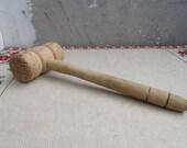 Vintage Wooden Meat Hammer, Vintage Meat Mallet Tenderizer 2, Large Wooden Meat Mallet, Wooden Steak Hammer, Kitchen Decor