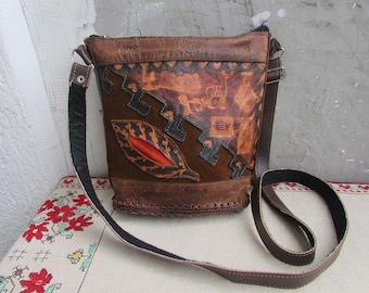 Vintage Genuine Leather and Leatherette Shoulder Handbag da8a836abf4b2