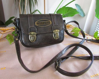 d09663d7024 Mini Faux Leather Handbag DANIEL RAY, Artificial Leather Purse, Small Bag,  Leather Pouch, Mini Crossbody Bag, Vintage Shoulder Bag, Boho Bag