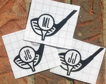 Golf Monogram Decal - Mens Decal