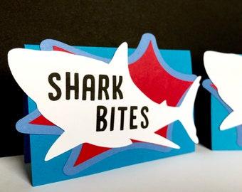Shark Food Label Tents