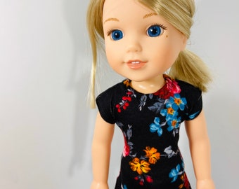 """14.5/"""" Doll Clothes-fit American Girl-Wellie Wishers-Top /& Capri-Lt Blue Geo"""