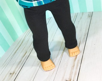 """AG 18"""" Doll Clothes - Basic Black Doll Leggings to fit dolls like Journey Girl and American Girl Doll pants"""