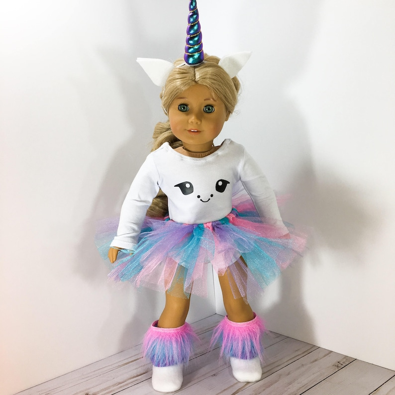 eb76a2073266 18 inch Doll clothes Unicorn Outfit fits doll like American