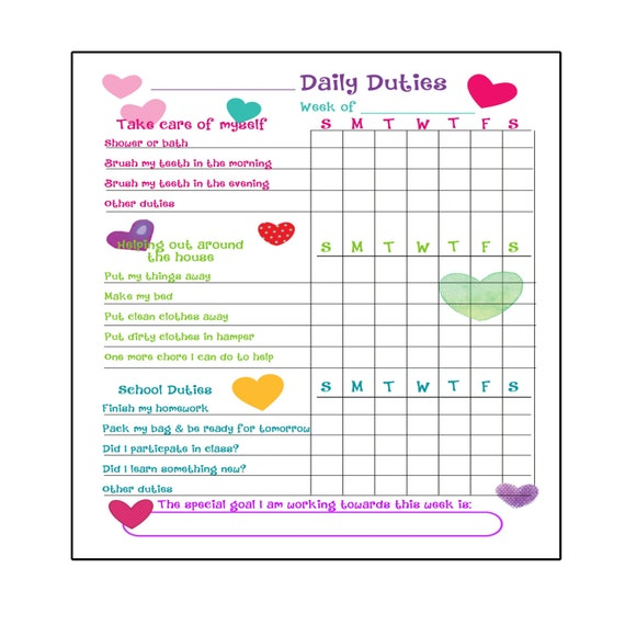 photo regarding Printable to Do Lists named Printable In the direction of Do Listing, Chore Chart Organizer for children Electronic