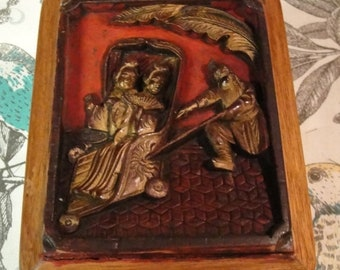 June Sale Asian Carved Box