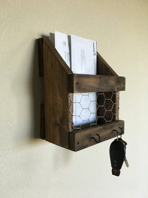 Mail and key holder Rustic mail and key holder Farmhouse
