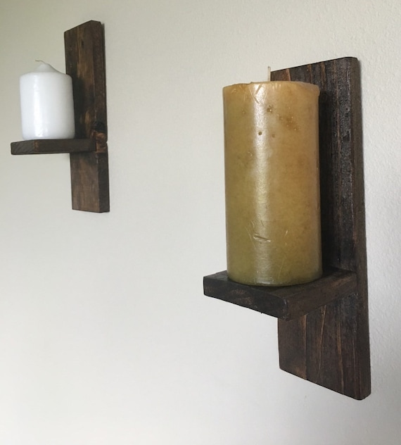 image 0 - Rustic Candle Wall Sconces