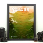 Catskill Mountains 3500 Print • Catskill High Peaks, NY • New York Mountain Climbing • Hiking Decor Poster • Wall Art Graphic Design