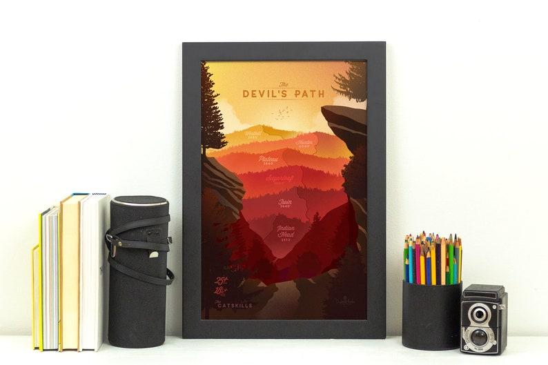 The Devil's Path Hiking Trail Print  Catskills NY Poster image 0