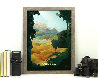 Quebec High Peaks Print • Sommets Du Québec • Canada Poster • Mountain Graphic Decor • Canadian Mountains Wall Art • Hiking Print