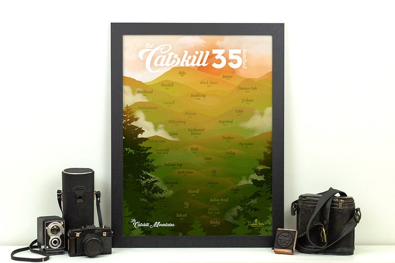 Catskill Mountains 3500 Print  Catskill High Peaks NY  New 18x24 inches