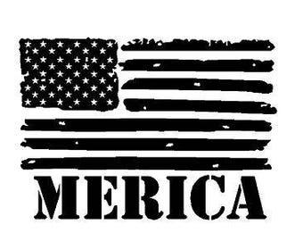 American Flag Pledge Script Font Decal Sticker Etsy