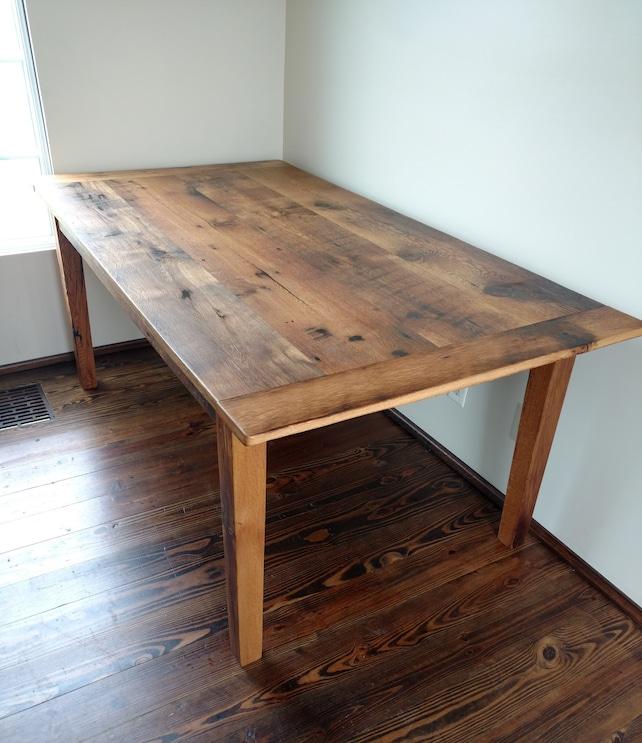 Custom Made Harvest Table Farmhouse Table Reclaimed Oak | Etsy
