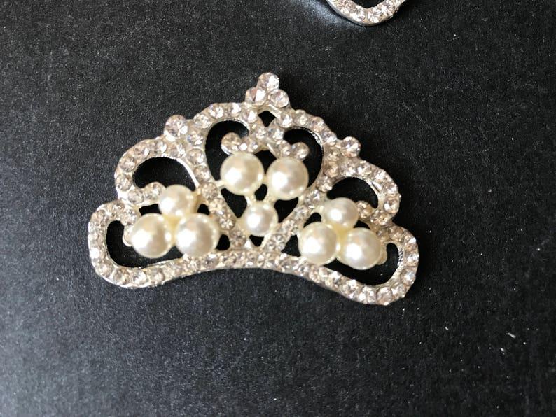 10pieces Crown Rhinestone ButtonsEmbellishment Crystal  0b962db40b41