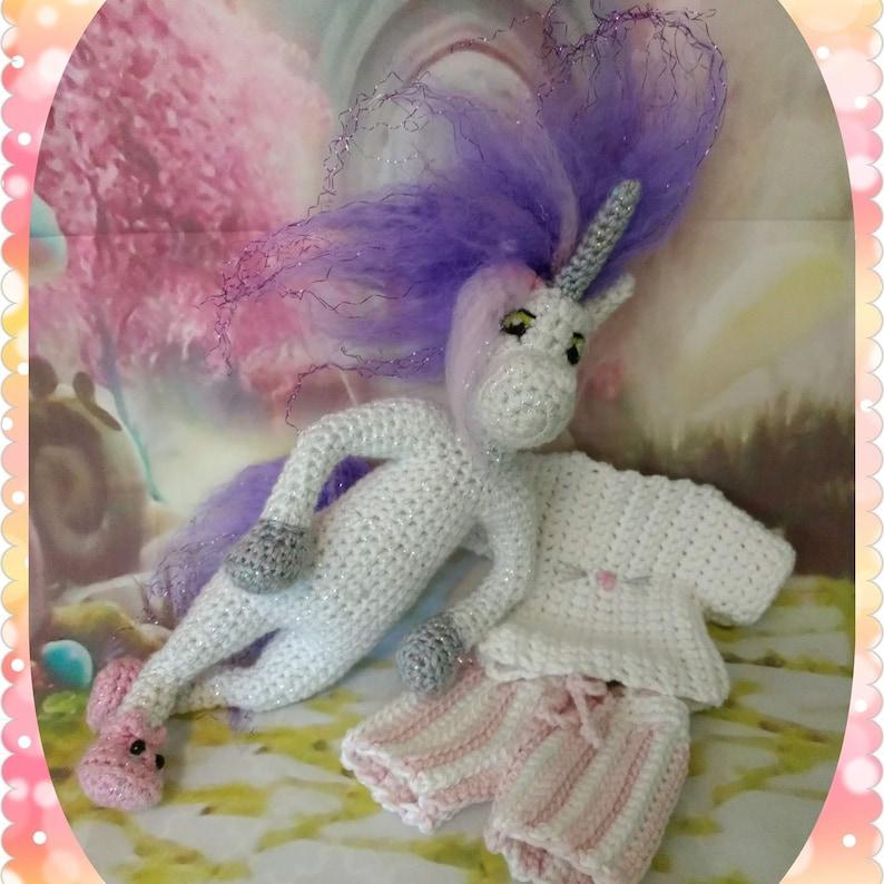 28da7c38898 Unicorn Bedhead PJ Unicorn Amigurumi Crochet Pattern by Manic