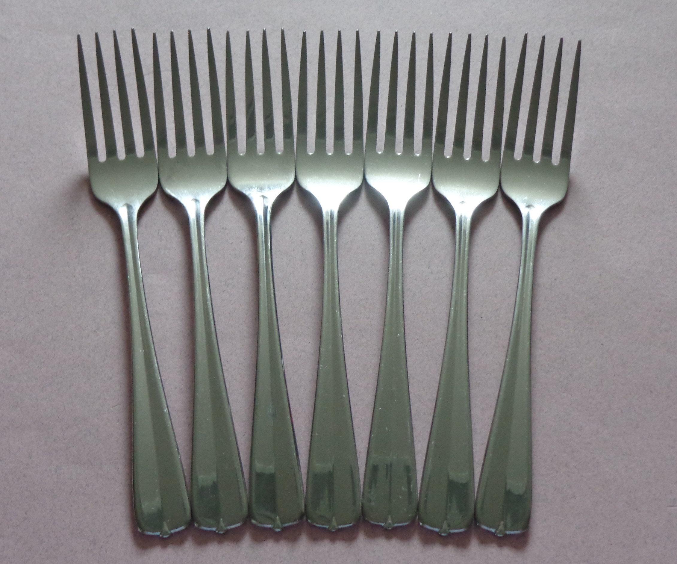 Oneida Gala Impulse Flatware Silverware 7 Stainless Dinner Forks