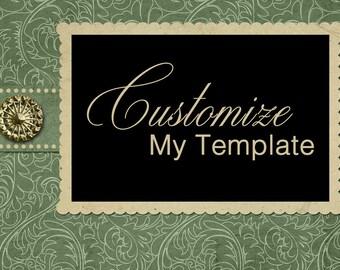 Customize My Template
