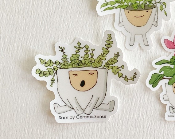 Planter Sam Clear Vinyl Plant Sticker