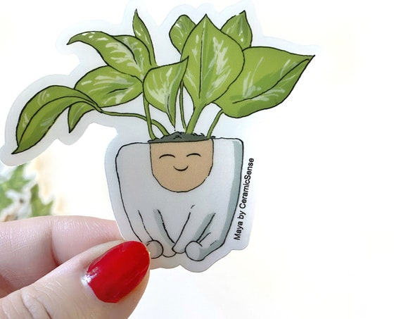 Maya Planter Vinyl Plant Sticker