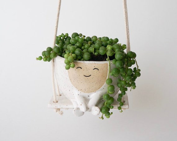 Hanging Planter Maya on a Swing