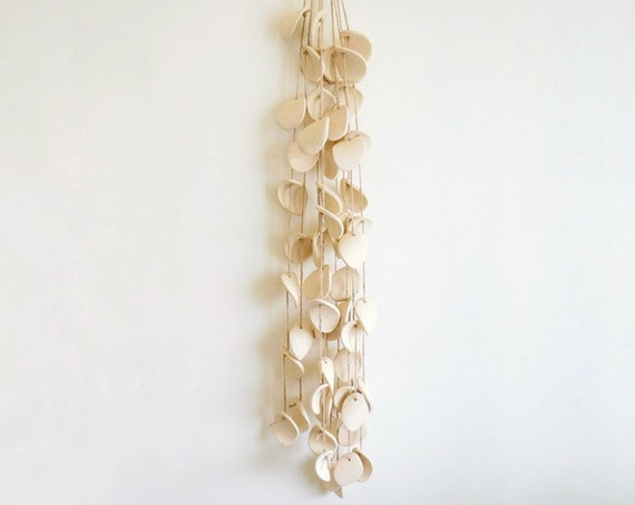 Natürel - Ceramic Wind Chime, Wall Sculpture