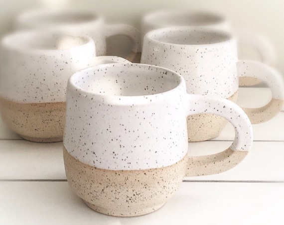 Ceramic Pottery Mug, Speckled Mug