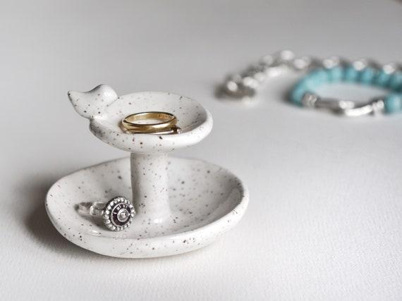 Bird Bath Two Tier Ceramic Ring Dish