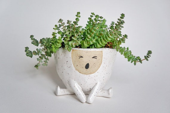 5AM (SAM) The Yawning  Ceramic Planter
