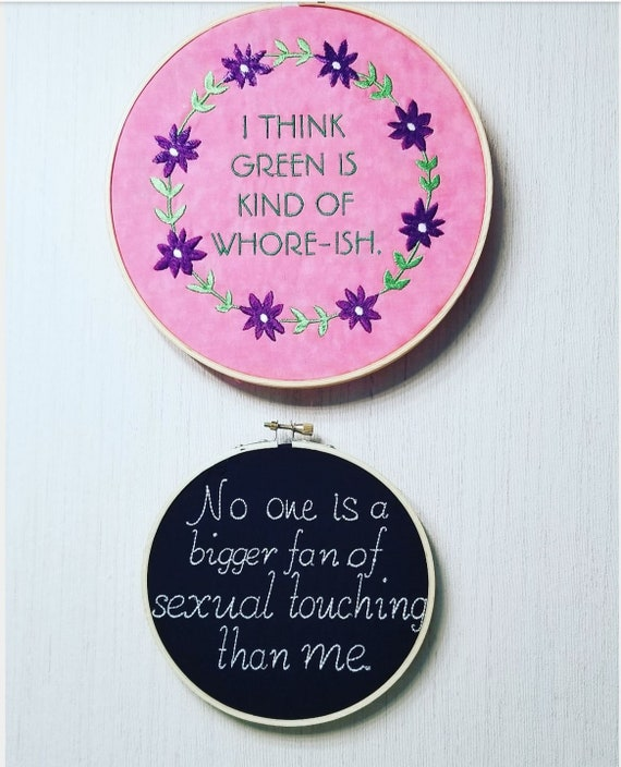 Citaten Hoop United : Angela martin the office quote hoop art i think green is etsy