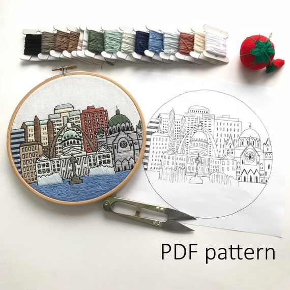 St Louis Missouri Hand Embroidery Pattern Pdf Embroidery Etsy