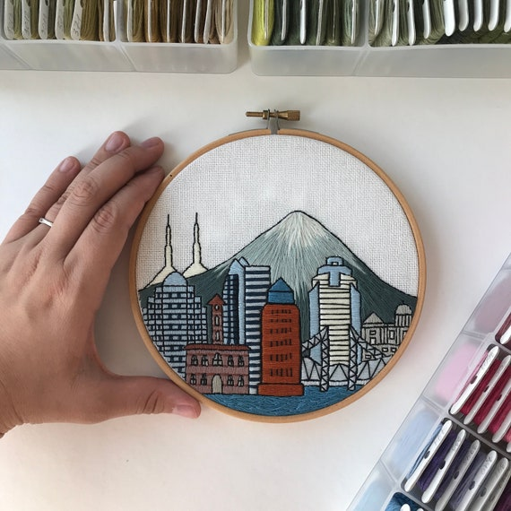 Hoop Art Portland Or Embroidery Hoop Hand Embroidery Etsy