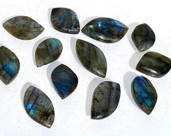 Healing Crystal 30x21x7.5MM Handmade Labradorite Cabochon Birthstone 37.90 CTS Natural Spectrolite Labradorite Gemstone Blue Fire